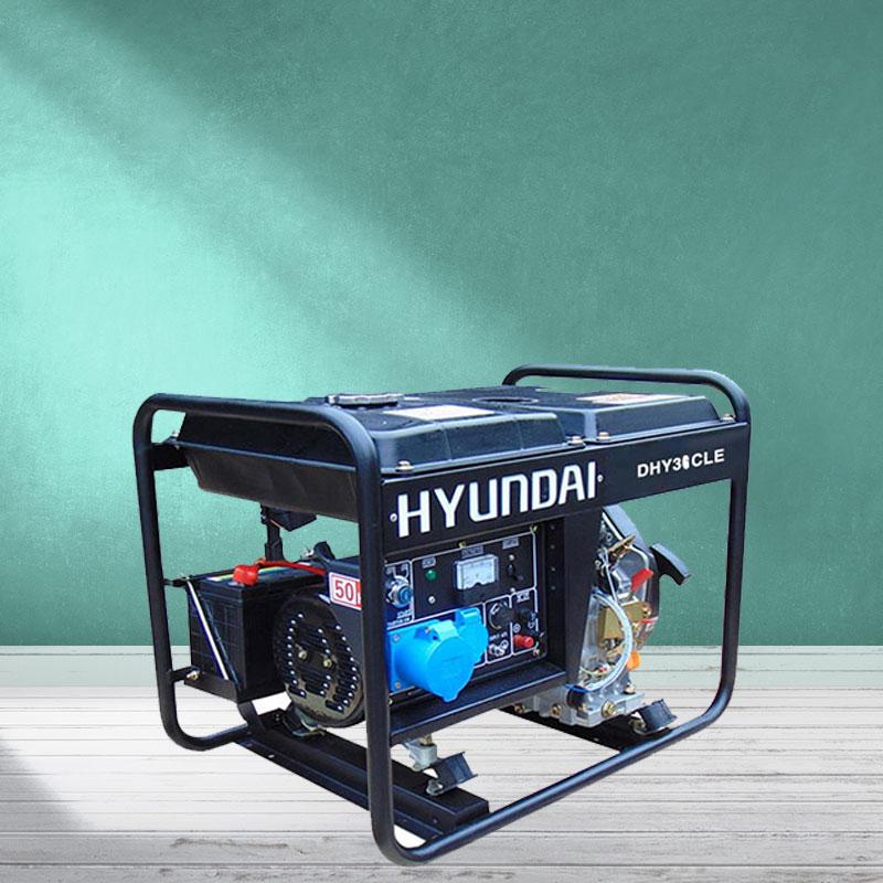 Máy phát điện chạy dầu 3kw. Hyundai DHY-36CLE