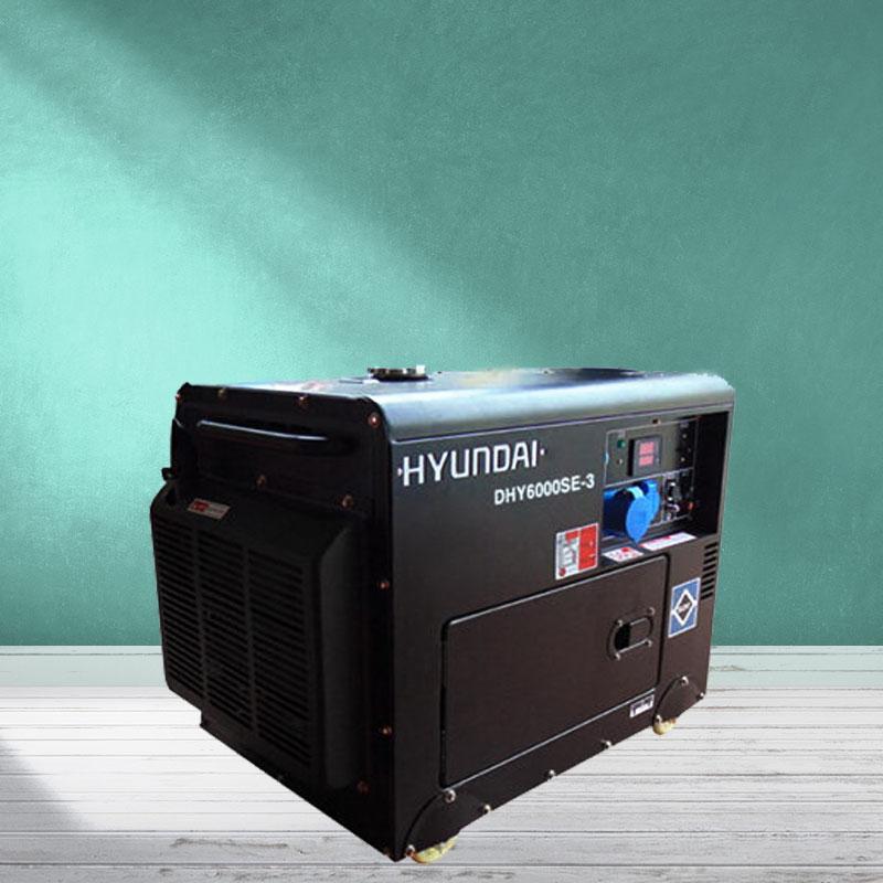 Máy phát điện chạy dầu 3pha 6kva siêu chống ồn. Hyundai DHY-6000SE3