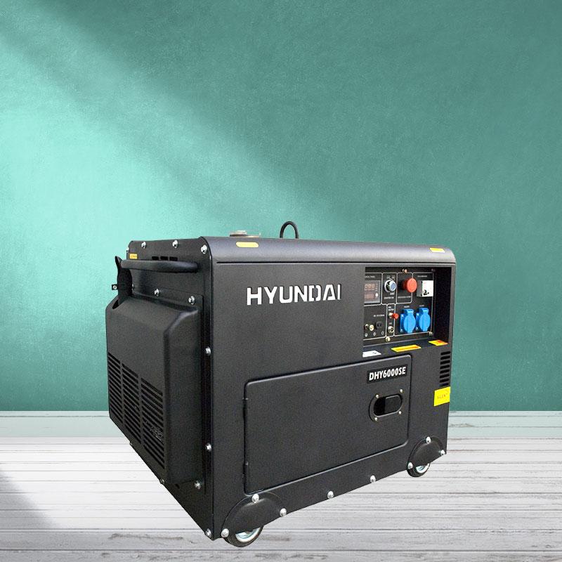 Máy phát điện chạy dầu 5kw sieu chong on. Hyundai DHY-6000SE