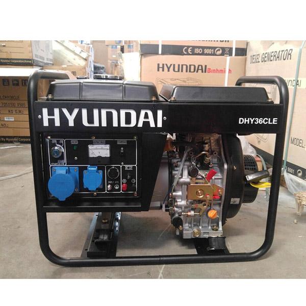 Máy phát điện chạy dầu 3kw. Hyundai DHY-36CLE 1