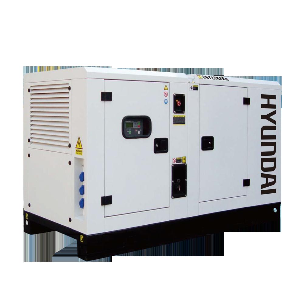 Máy phát điện 25kw/25kva 1 pha. Hyundai DHY28KSEm