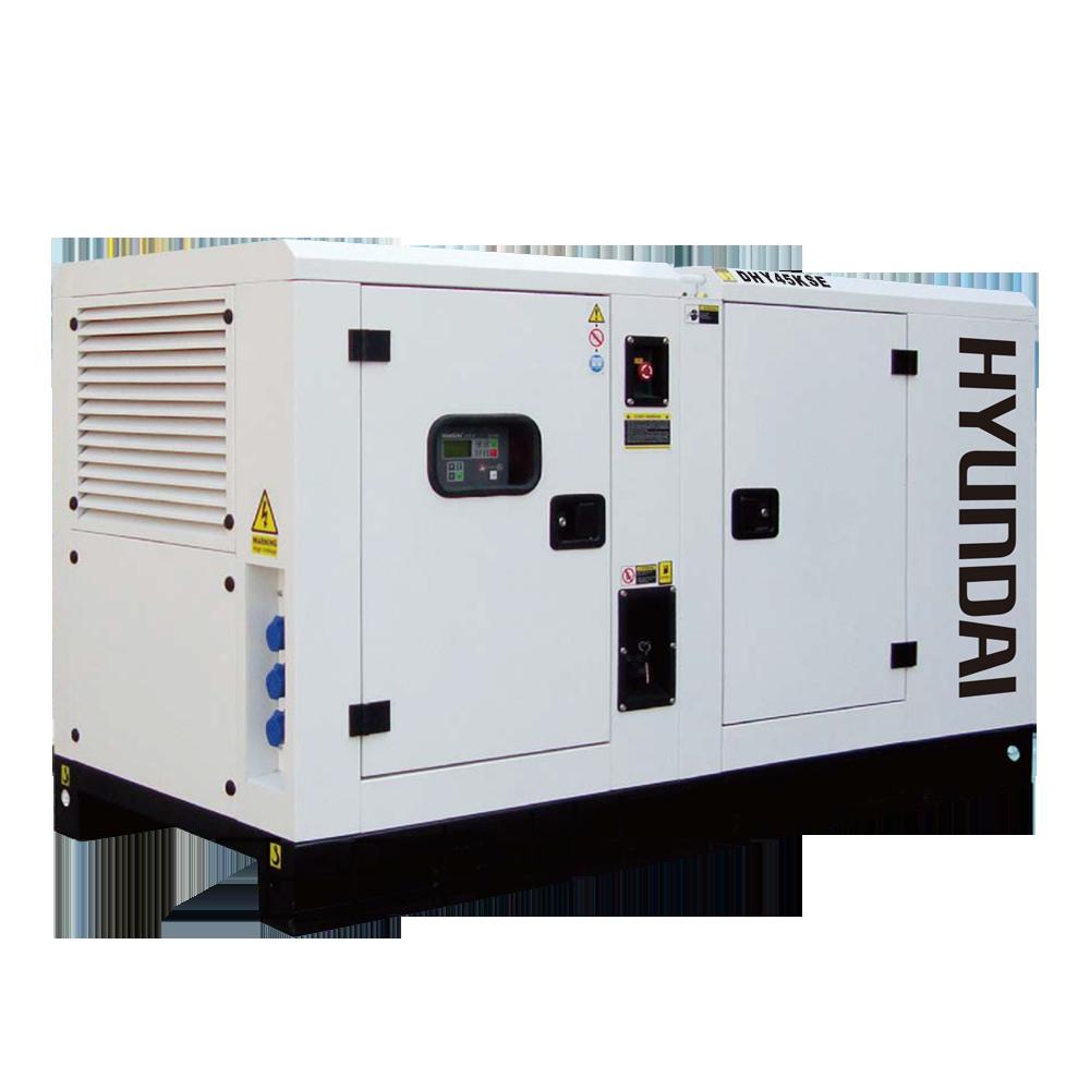 Máy phát điện 40KVA/32KW 3 pha. Hyundai DHY45KSE