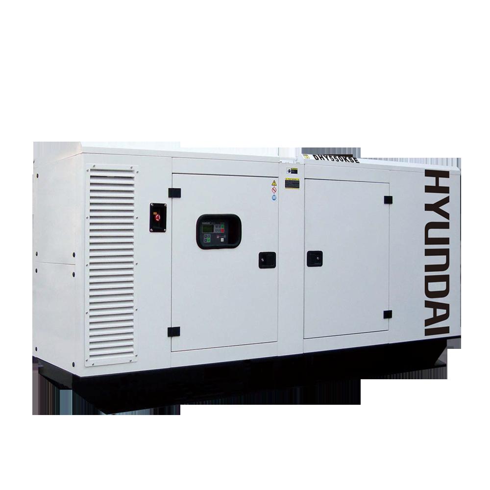 Máy phát điện 500KVA/400KW 3 pha. Hyundai DHY550KSE