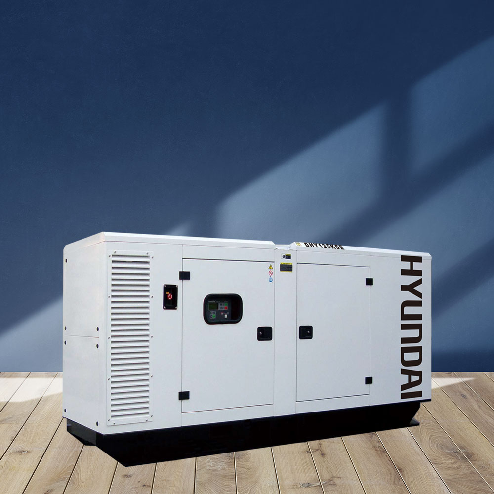 Máy phát điện 112KVA/90KW 3 pha. Hyundai DHY125KSE