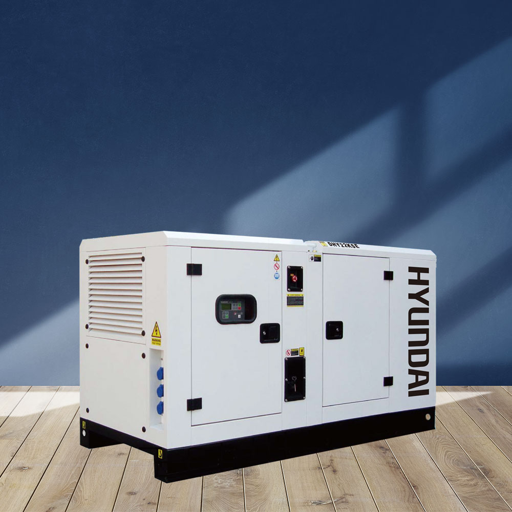 Máy phát điện 20KVA/16KW 3 pha. Hyundai DHY22KSE