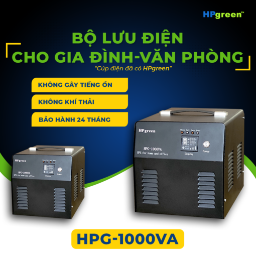 Bộ lưu điện cho gia đình văn phòng hpg-1000va